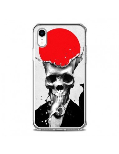 Coque iPhone XR Splash Skull Tête de...
