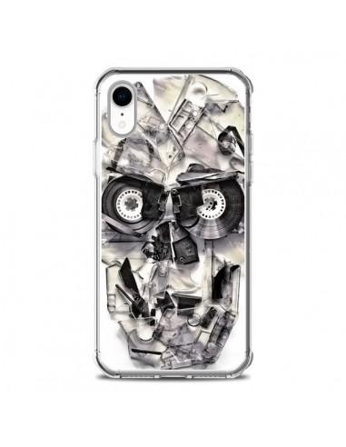 Coque iPhone XR Tape Skull K7 Tête de...