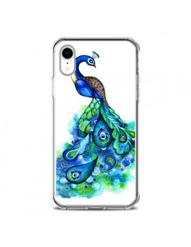 Coque iPhone XR Paon Multicolore -...