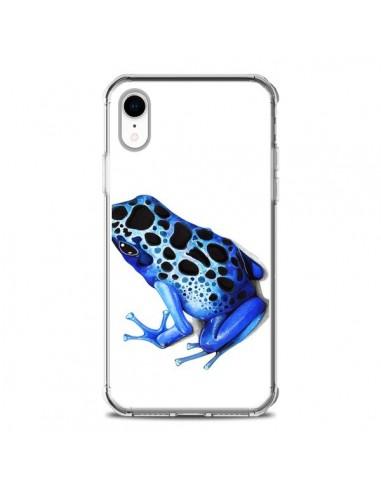 Coque iPhone XR Grenouille Bleue -...