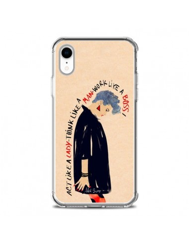 Coque iPhone XR Act Like A Lady -...