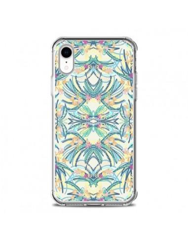 Coque iPhone XR Palm Floral Fleurs -...