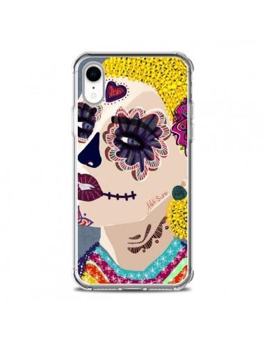 Coque iPhone XR Sugar Skull Tête de...