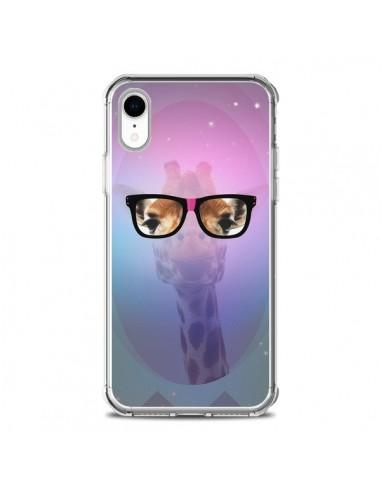 Coque iPhone XR Girafe Geek à Lunettes - Aurelie Scour