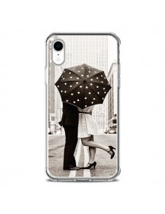 Coque iPhone XR Secret under Umbrella Amour Couple Love - Asano Yamazaki
