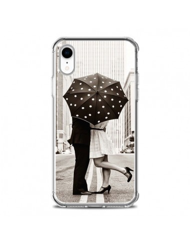 Coque iPhone XR Secret under Umbrella Amour Couple Love - Asano Yamazaki