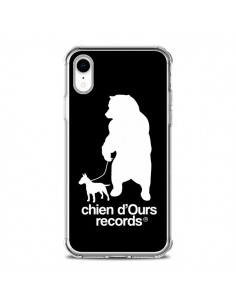 Coque iPhone XR Chien d'Ours Records Musique - Bertrand Carriere