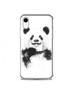 Coque iPhone XR Funny Panda Moustache Movember - Balazs Solti