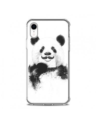Coque iPhone XR Funny Panda Moustache...