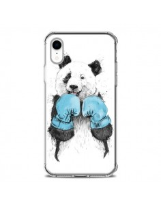 Coque iPhone XR Winner Panda Boxeur - Balazs Solti