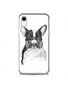 Coque iPhone XR Tagueur Bulldog Dog Chien Big City Life - Balazs Solti