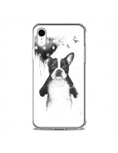 Coque iPhone XR Lover Bulldog Chien Dog My Heart Goes Boom - Balazs Solti