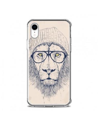Coque iPhone XR Cool Lion Lunettes -...