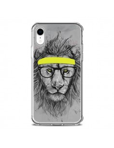 Coque iPhone XR Hipster Lion - Balazs Solti