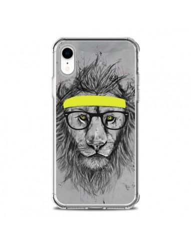 Coque iPhone XR Hipster Lion - Balazs...