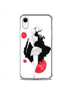 Coque iPhone XR Demoiselle Femme Fashion Mode Rouge - Cécile