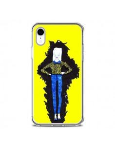 Coque iPhone XR Julie Femme Fashion Mode Jaune - Cécile