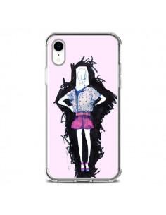 Coque iPhone XR Valentine Femme Fashion Mode Rose Clair - Cécile