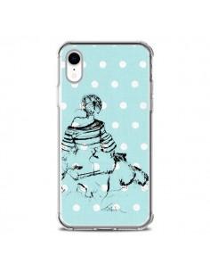 Coque iPhone XR Croquis Pois Femme Fashion Mode - Cécile