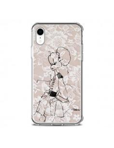 Coque iPhone XR Croquis Dentelle Femme Fashion Mode - Cécile