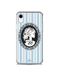 Coque iPhone XR Camée Squelette Bleue - Enilec