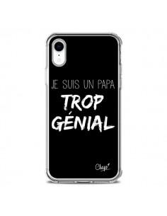 Coque iPhone XR Je suis un Papa trop Génial Noir - Chapo
