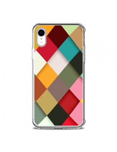 Coque iPhone XR Colorful Mosaique -...