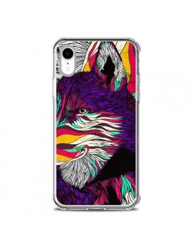 Coque iPhone XR Color Husky Chien...