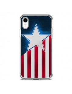 Coque iPhone XR Captain America - Eleaxart