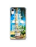 Coque iPhone XR Fun Summer Sun _té - Eleaxart