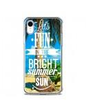 Coque iPhone XR Fun Summer Sun _té - Eleaxart