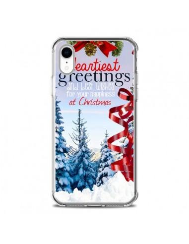 Coque iPhone XR Voeux Joyeux Noël -...