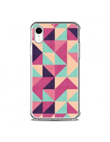 Coque iPhone XR Azteque Triangle Rose...