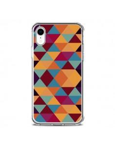 Coque iPhone XR Azteque Triangle Orange - Eleaxart