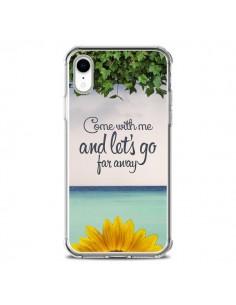 Coque iPhone XR Let's Go Far Away Flower Fleur Tournesol - Eleaxart