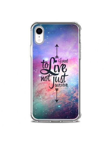 Coque iPhone XR I want to live Je...