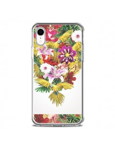 Coque iPhone XR Parrot Floral Perroquet Fleurs - Eleaxart