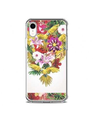 Coque iPhone XR Parrot Floral Perroquet Fleurs - Eleaxart