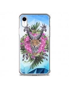 Coque iPhone XR Girafes Lion Tigre Jungle - Eleaxart