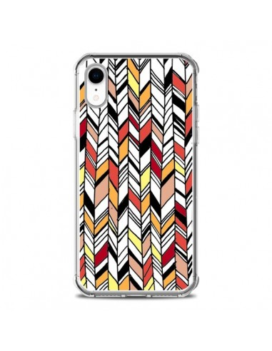 Coque iPhone XR Graphic Azteque Rouge...