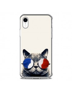 Coque iPhone XR Chat à lunettes françaises - Gusto NYC
