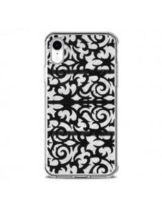 Coque iPhone XR Abstrait Noir et Blanc - Irene Sneddon