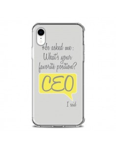 Coque iPhone XR What's your favorite position CEO I said, jaune - Shop Gasoline