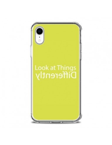 Coque iPhone XR Look at Different Things Yellow - Shop Gasoline