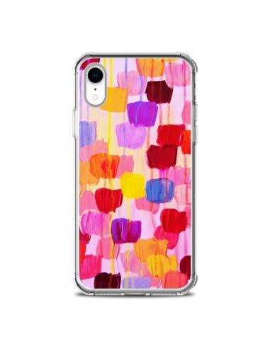 Coque iPhone XR Pois Roses Dottie -...