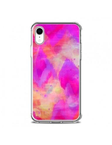 Coque iPhone XR Coeur Tribal Rose -...
