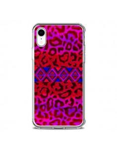 Coque iPhone XR Tribal Leopard Rouge - Ebi Emporium