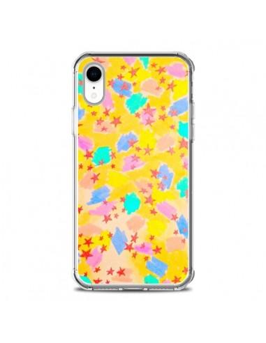 Coque iPhone XR Stars Etoiles Jaunes...