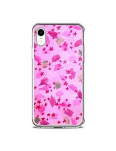Coque iPhone XR Stars Etoiles Roses - Ebi Emporium