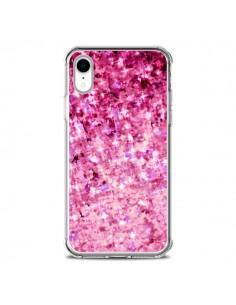 Coque iPhone XR Romance Me Paillettes Roses - Ebi Emporium